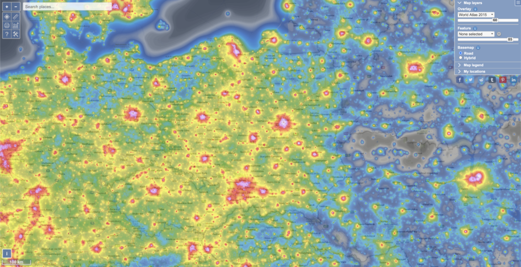 light-polution-map